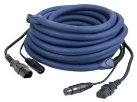 DAP-Audio FP12 - IEC/XLR M - IEC/XLR F 10m