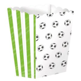 Voetbal popcorn bakjes (4 st)