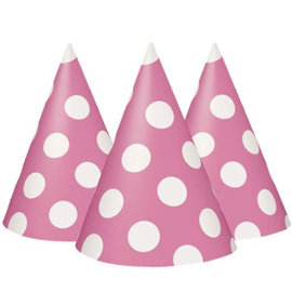 Party hoedjes roze (8st)
