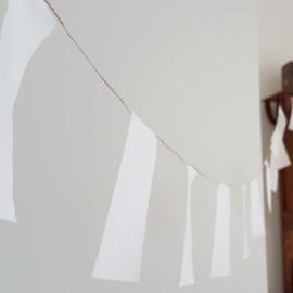 Witte stoffen tuinslinger 6m | Smal