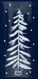 Kerst | Raamsticker kerstboom 24 x 44,5 cm wit