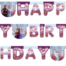 Frozen Happy Birthday Letter Banner | 2m