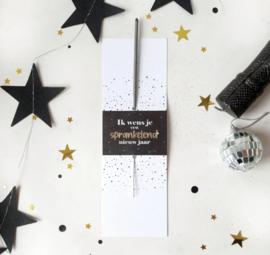 Kaart + Sterretje | Ik wens je een sprankelend nieuw jaar