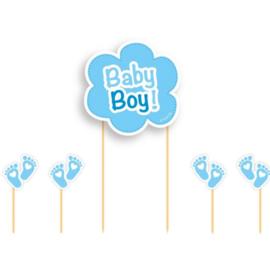 Taarttopper Baby Boy! | 17 cm 5-delig