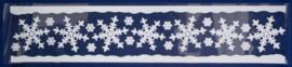 Kerst | Raamsticker sneeuwvlokken 12,5 x 58,5 cm blauw/wit