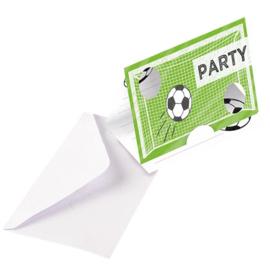 Voetbal uitnodigingen (8st)