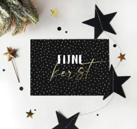 Ansichtkaart met goudfolie | Fijne kerst