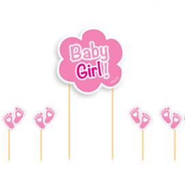 Taarttopper Baby Girl! | 17 cm 5-delig