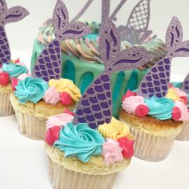 Cupcaketoppers | Mermaid (per 6 stuks)