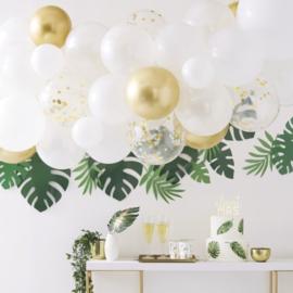 Ballonnenboog | Goud-Wit