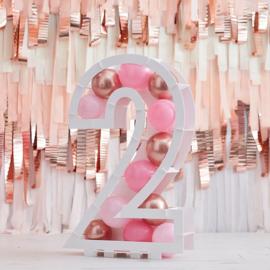 Cijfer ballonnenstandaard | Pink & Colour
