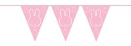 Nijntje vlaggenlijn roze | 10 meter