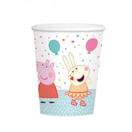 Peppa Pig bekers 250 ml (8st)