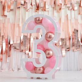 Cijfer ballonnenstandaard   Pink & Colour