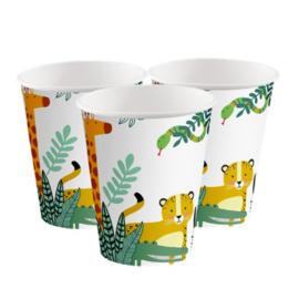 Jungle bekers 250 ml (8st)