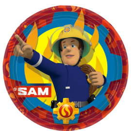 Bordjes Brandweerman Sam 23cm (8st)