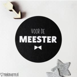 Sticker | Voor de meester