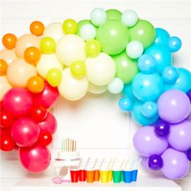 Regenboog ballonboog | 78 stuks