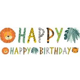 Jungle 'Happy Birthday' Letter Banner