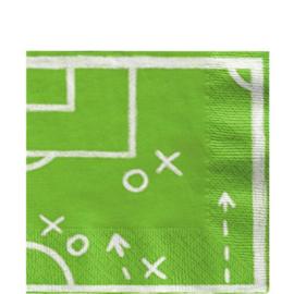 Voetbal Papieren Servetten | 33 cm