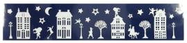 Sinterklaas | Raamstickers met glitter 12,5 x 58,5 cm wit
