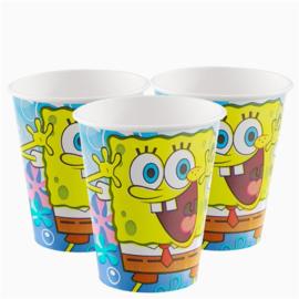 Spongebob bekers 266 ml (8st)