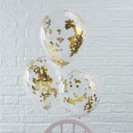 Confetti ballonnen | Goud (5 st)