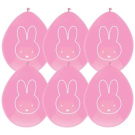 Nijntje | Ballonnen roze (6 st)