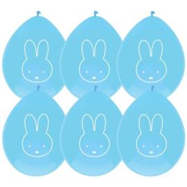 Nijntje | Ballonnen blauw (6 st)