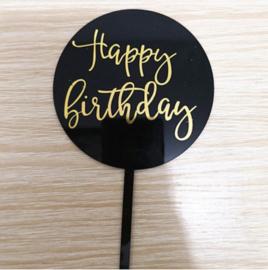 Taarttopper Acryl | Happy Birthday