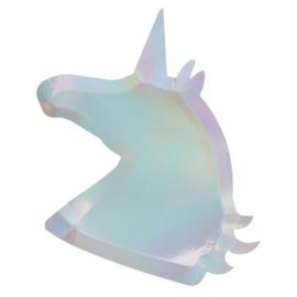 Bordjes Unicorn holografisch (8st)
