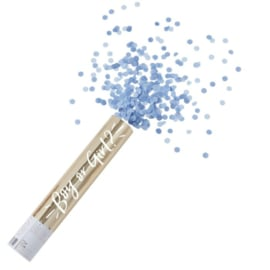Gender reveal confettikanon blauw