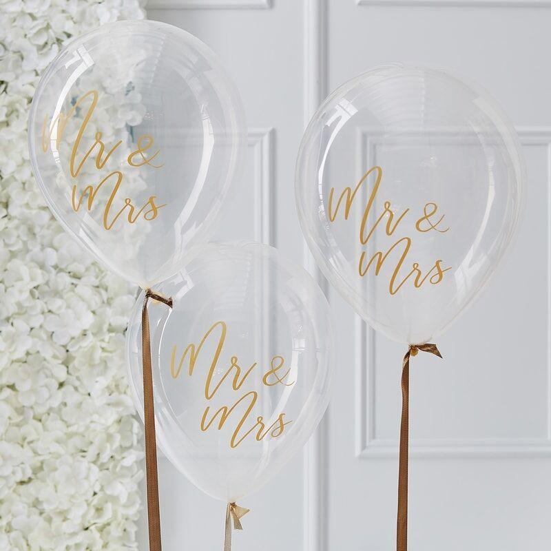 Mr & Mrs ballonnen | Transparant (5 st)