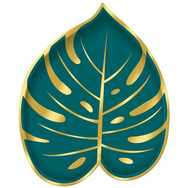 Bordjes Jungle bladeren 20cm | 8st