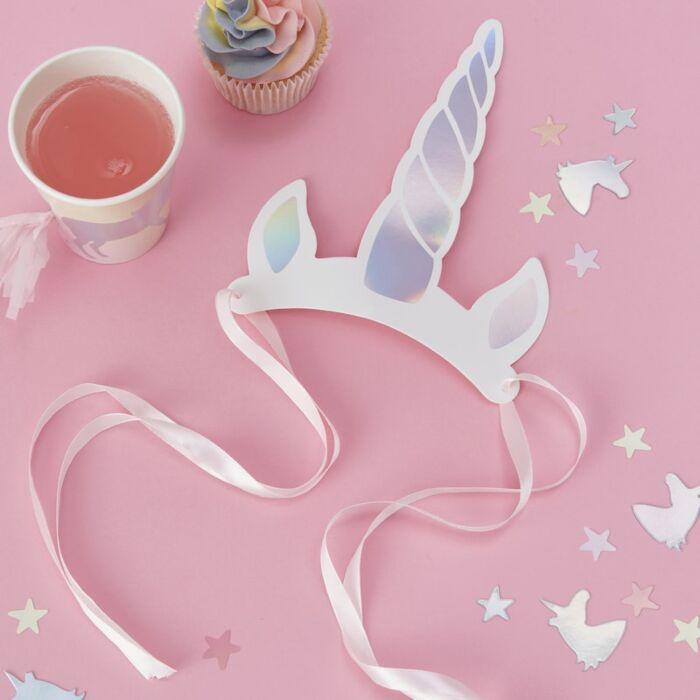 Feesthoedjes Unicorn (8st)