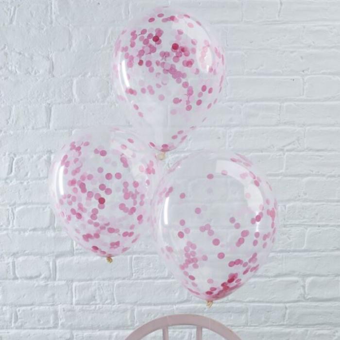 Confetti ballonnen | Roze (5 st)