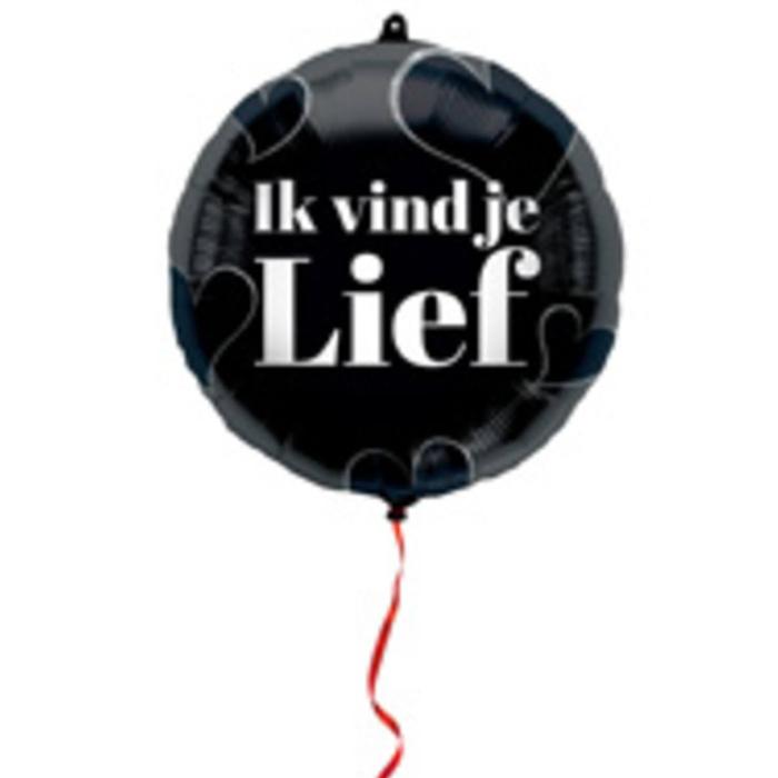 Folieballon 'Ik vind je lief' | 45 cm