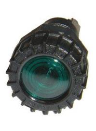 Controlelampje kunststof groen inbouw 18mm 12 volt