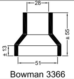 Bowman 3366 eindkap manchet  ø51mm ø28mm recht