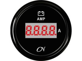 CN Amperemeter zwart digitaal