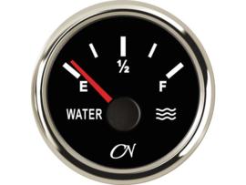 CN Watermeter zwart / chroom