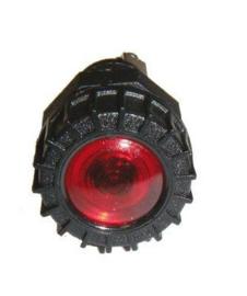 Controlelampje kunststof rood inbouw 18mm 12 volt
