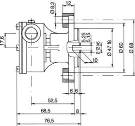 Ruggerini MM250 en Ruggerini RM270 impellerpomp