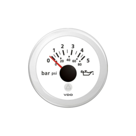 VDO oliedrukmeter 0-5 bar