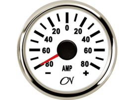 CN Amperemeter wit / chroom