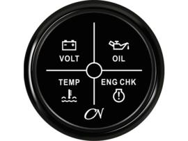 CN 4 LED alarminstrumenten zwart