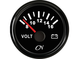 CN Voltmeter 8-16 volt chroom