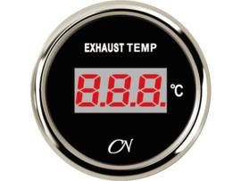 CN Digitale uitlaattemperatuurmenter zwart / chroom (pydrometer)
