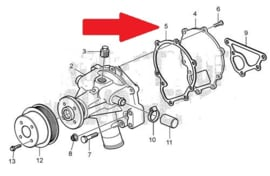 Volvo Penta MD2040, D2-50, D2-55, D2-60, D2-75 waterpomp pakking Volvo Penta 3580576