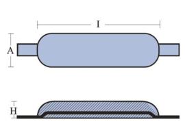 Tecnoseal anoden aluminium met aluminium lasstrip type 1 0,3 kg